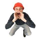 кричащий работник Стоковые Фотографии RF