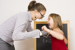 кричащий учитель Стоковая Фотография RF