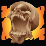 Кричащий череп Стоковая Фотография RF