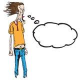Кричащий человек с пузырем мысли бесплатная иллюстрация
