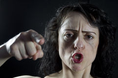 крича женщина Стоковое Фото