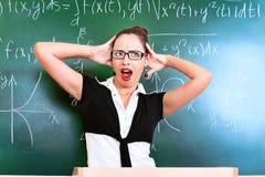 крича учитель Стоковая Фотография