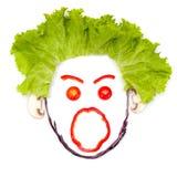 Крича человеческая голова сделанная овощей Стоковые Фотографии RF