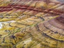 Кровати дня Джона ископаемые покрасили холмы Стоковая Фотография
