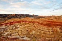 Кровати дня Джона ископаемые, покрашенный блок холмов, Орегон Стоковые Фотографии RF
