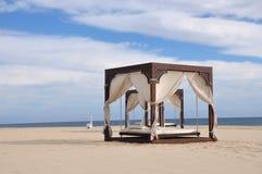 кровати пляжа Стоковые Фото