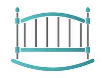 кроватка также вектор иллюстрации притяжки corel икона Стоковое Изображение RF