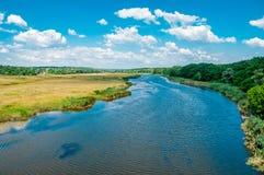 Кровать ландшафта реки самары Украина Стоковое фото RF