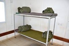 кровать армии Стоковые Изображения