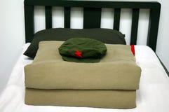 кровать армии стоковые фотографии rf