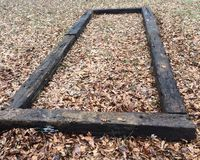 Кровать голубики Crosstie Стоковая Фотография RF