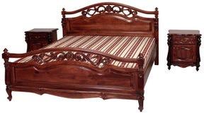 кровать деревянная стоковая фотография rf