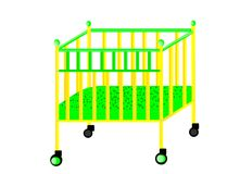 Кровать для младенца Стоковые Фото