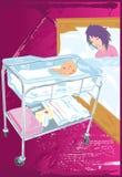 кровать младенца иллюстрация штока