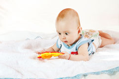 кровать младенца Стоковая Фотография RF
