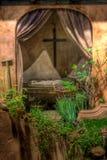 кровать пересекает сверх Стоковое Фото