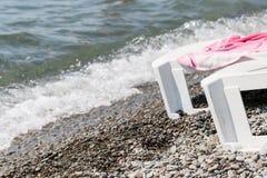 Кровать планки на Pebble Beach Стоковое Фото
