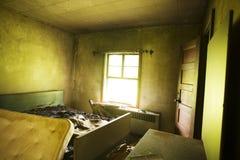 кровать сгорела Стоковые Изображения