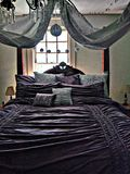Кровать сени короля Стоковое фото RF
