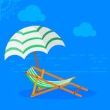 Кровать Солнця на пляже Стоковая Фотография RF
