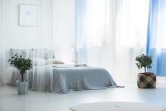 Кровать с сенью стоковая фотография rf
