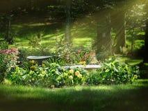Кровать цветка стоковая фотография rf