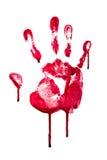 Кровопролитная печать руки Стоковые Изображения