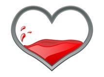кровопролитное сердце иллюстрация штока