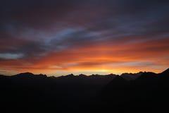 кровопролитный рассвет Стоковая Фотография RF