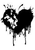 Кровопролитное клочковатое сердце иллюстрация штока