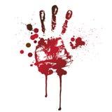 кровопролитное handprint иллюстрация штока