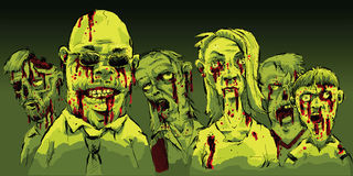кровопролитные зомби Стоковое Изображение