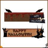 Кровопролитные изолированные знамена хеллоуина Стоковая Фотография RF