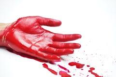 Кровопролитные руки стоковые изображения rf