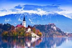 кровоточенная европа Словения Стоковые Фотографии RF