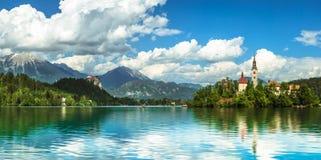 кровоточенная панорама озера Стоковое Изображение