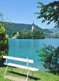 Кровоточенное озеро, национальный парк Triglav, Словения Стоковое фото RF