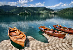 кровоточенное озеро Словения Стоковые Изображения RF