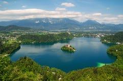 кровоточенное озеро Словения Стоковое Фото