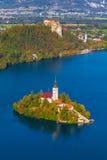 Кровоточенное озеро, Словения Стоковое Изображение RF