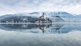 кровоточенное озеро стоковая фотография