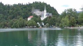 Кровоточенное озеро, slovenie 142839 церков акции видеоматериалы