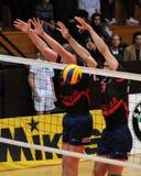 кровоточенный волейбол игры kaposvar Стоковые Изображения RF