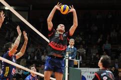 кровоточенный волейбол игры kaposvar Стоковое фото RF