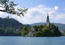Кровоточенный замок, Словения Стоковые Фотографии RF