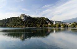 Кровоточенный замок, Словения стоковое фото rf
