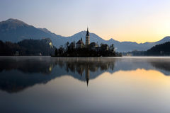 кровоточенный остров Словения стоковые изображения rf