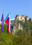 Кровоточенный, Словения - крепость на холме Стоковое фото RF