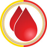 кровь падает логос Стоковое Фото