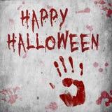 Кровь Handprint хеллоуин Стоковые Изображения RF